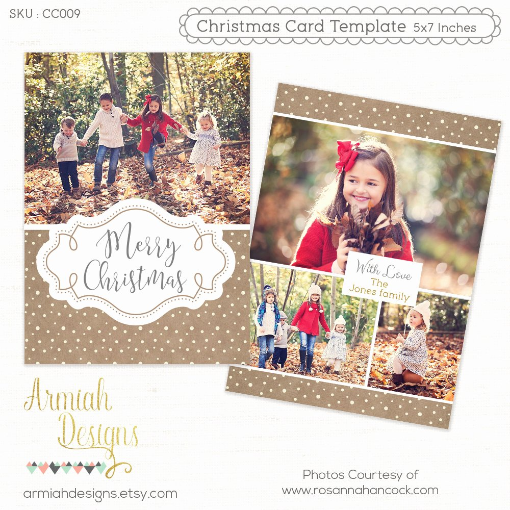 Christmas Card Template Photoshop Luxury Digital Shop Christmas Card Template for Photographers