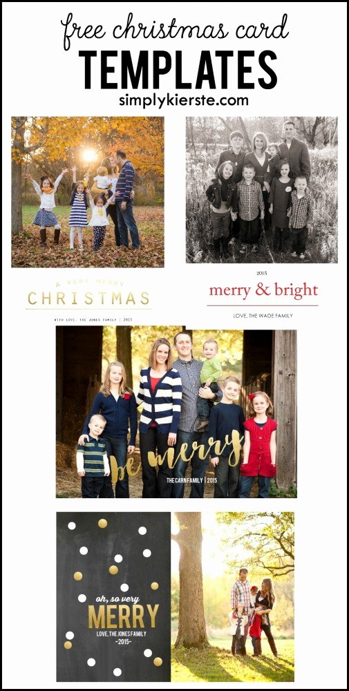 Christmas Card Template Photoshop Luxury Free Christmas Card Templates