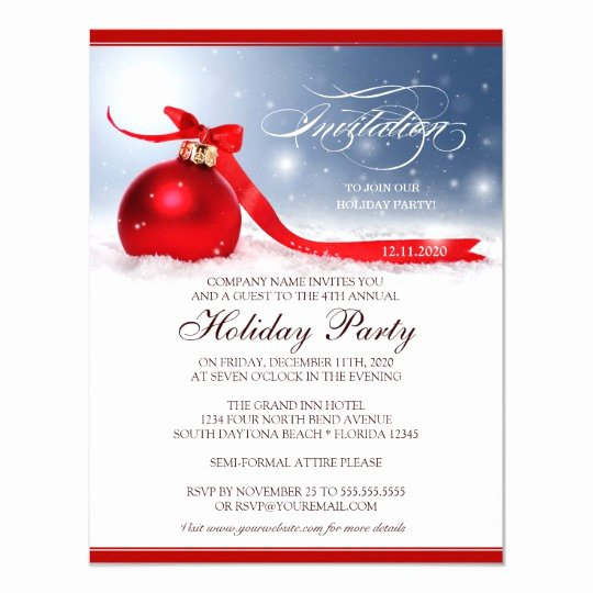 Christmas Party Invite Template Awesome Corporate Holiday Party Invitation Template