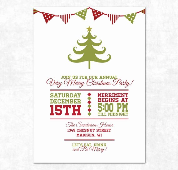 Christmas Party Invite Template Awesome Items Similar to Printable Christmas Invitation Holiday