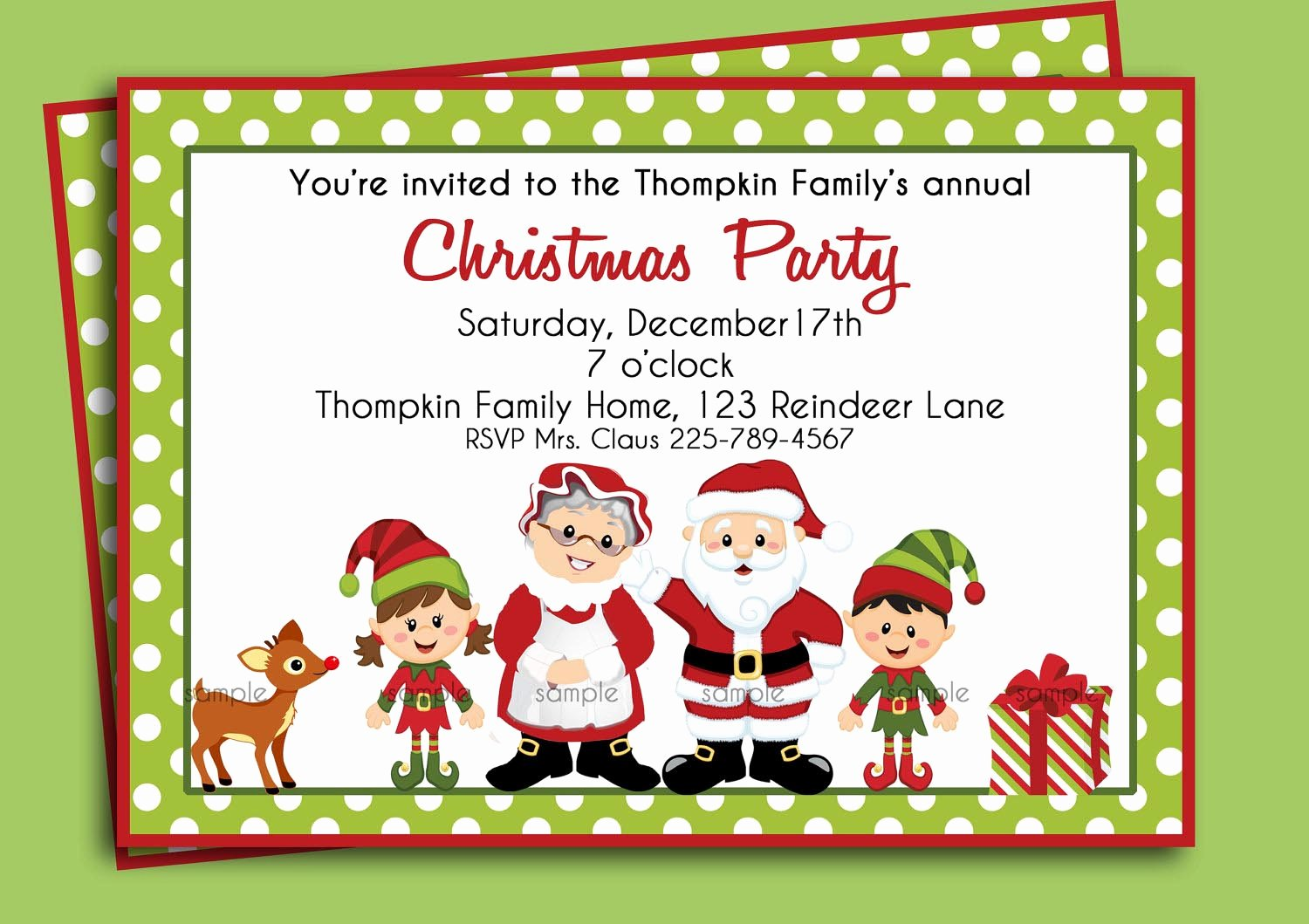 Christmas Party Invite Template Best Of Christmas Birthday Party Invitations