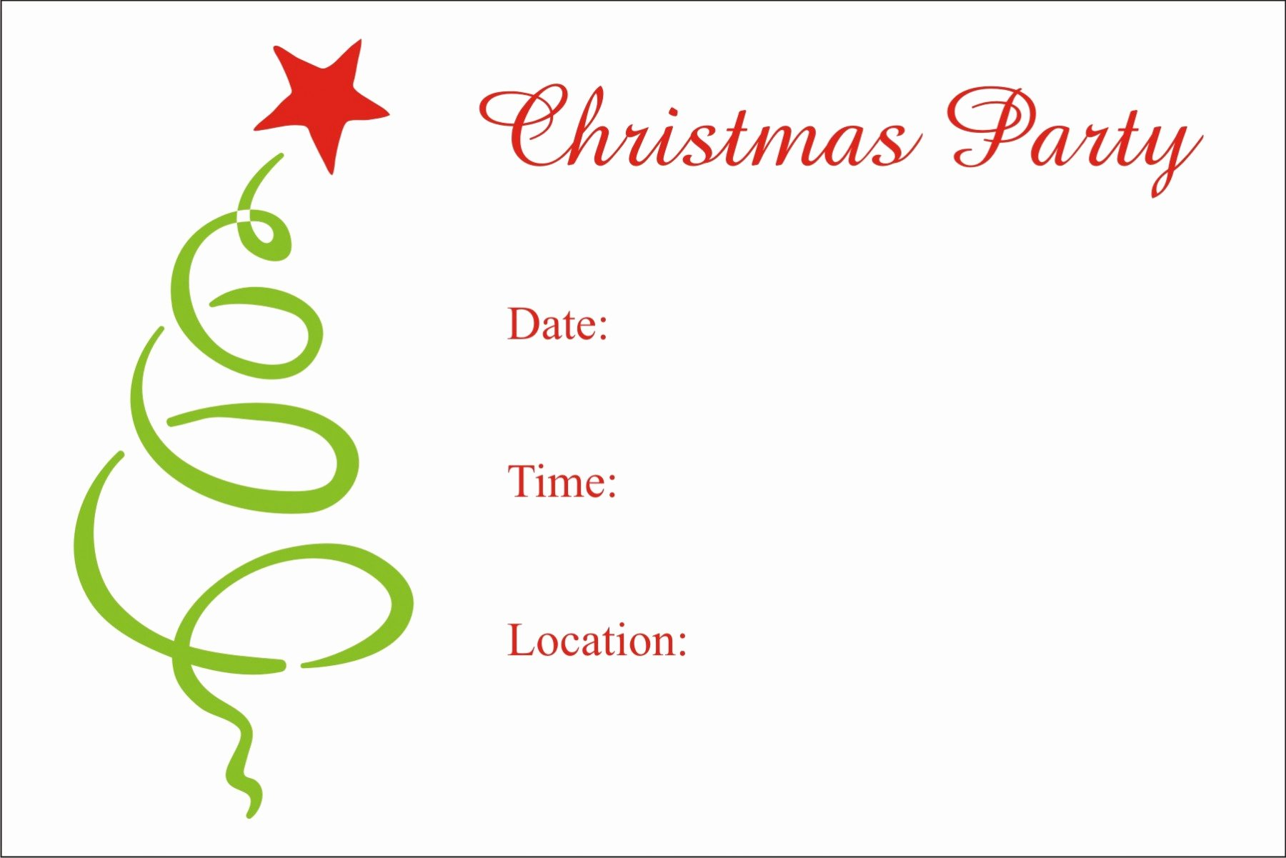 Christmas Party Invite Template Best Of Christmas Party Free Printable Holiday Invitation