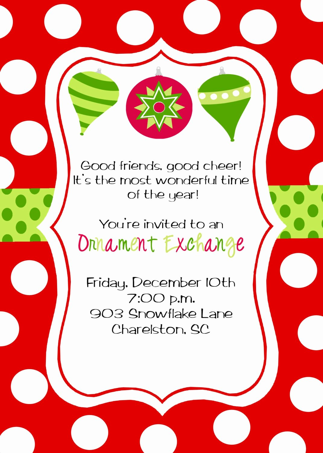 Christmas Party Invite Template Best Of Christmas Party Invitations
