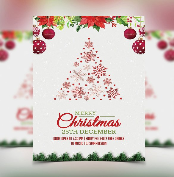 Christmas Party Invite Template Elegant 20 Christmas Invitation Templates Free Sample Example
