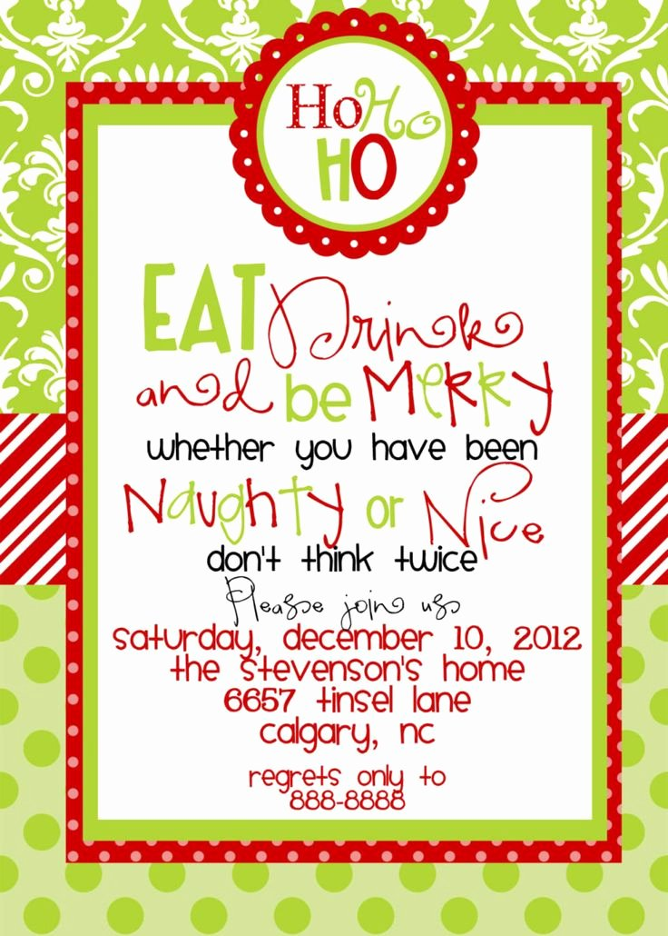 Christmas Party Invite Template Inspirational Best 25 Christmas Party Invitation Wording Ideas On