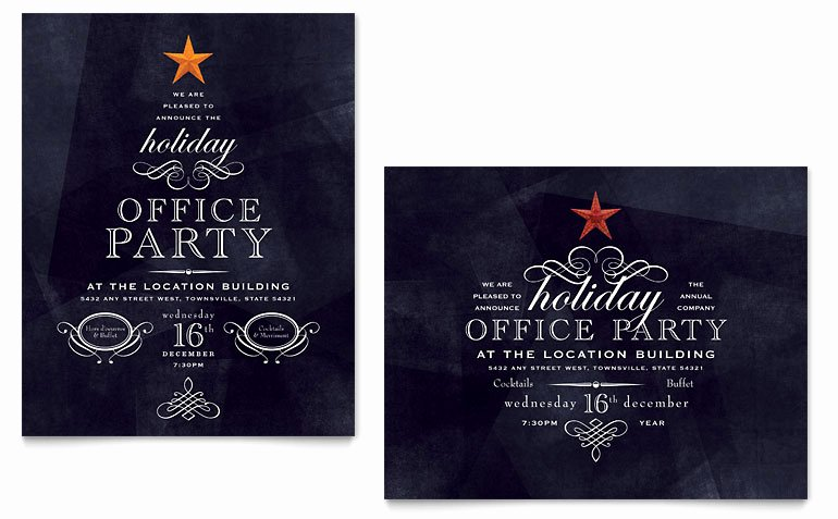 Christmas Party Invite Template Inspirational Fice Holiday Party Poster Template Word & Publisher
