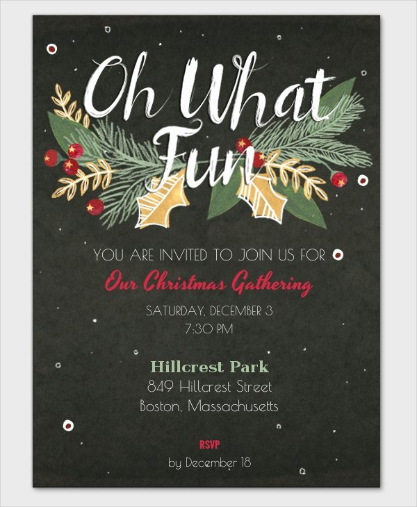 Christmas Party Invite Template Luxury 32 Christmas Party Invitation Templates Psd Vector Ai