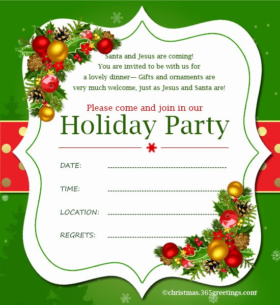 Christmas Party Invite Template Luxury Christmas Invitation Template and Wording Ideas