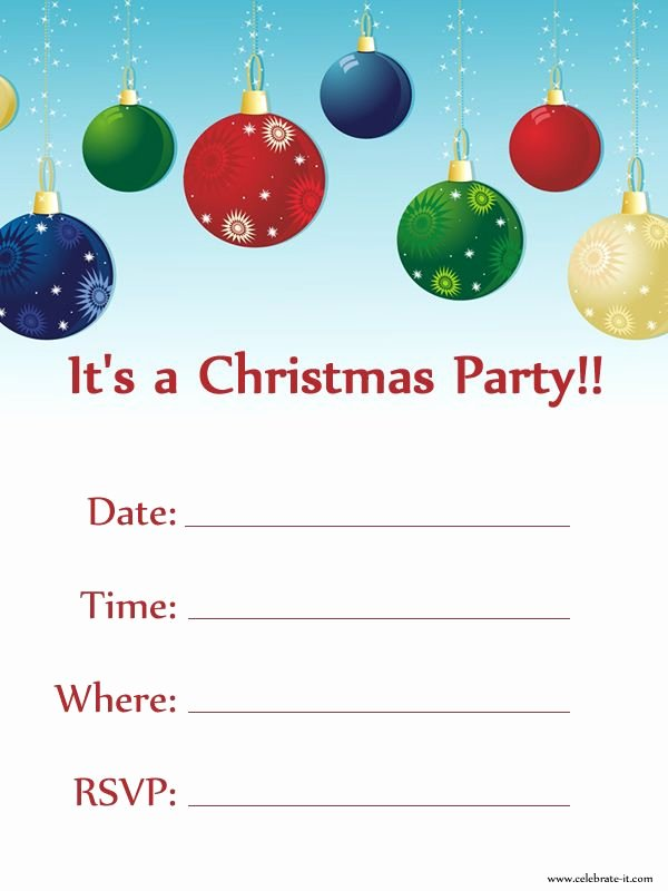 Christmas Party Invite Template Luxury Christmas Party Invitation Free Download