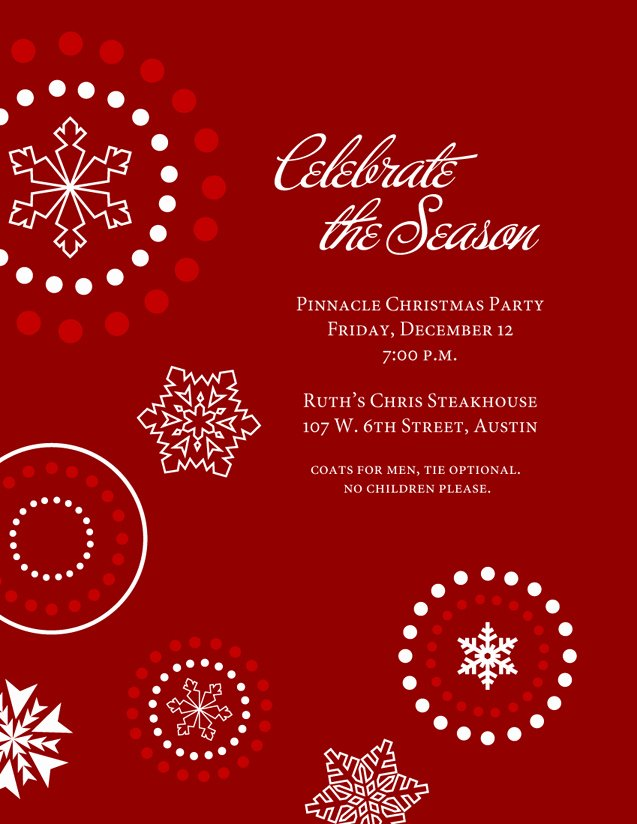 Christmas Party Invite Template Luxury Holiday Invitation Templates