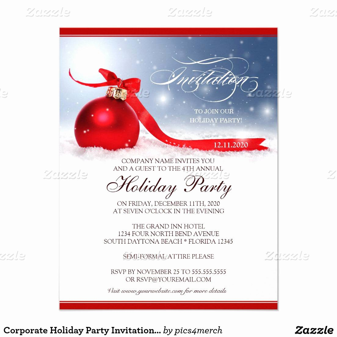 Christmas Party Invite Template New Christmas Party Invitation Template