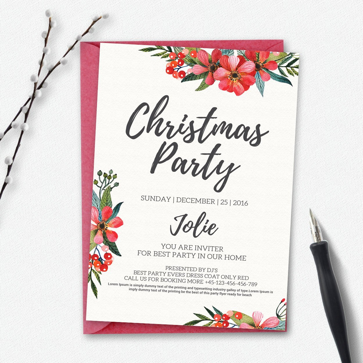 Christmas Party Invite Template New Holiday Party Invitation Template Invitation Templates