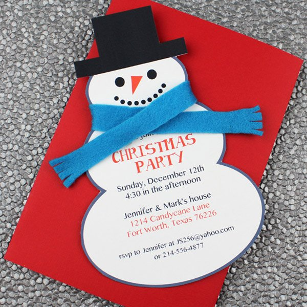 Christmas Party Invite Template New Snowman Christmas Party Invitation Template – Download & Print