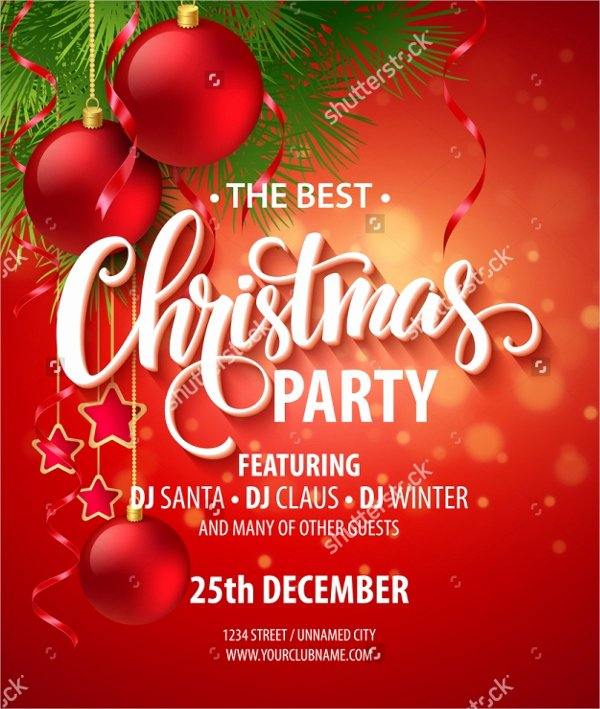 Christmas Party Invite Template Unique 32 Christmas Party Invitation Templates Psd Vector Ai
