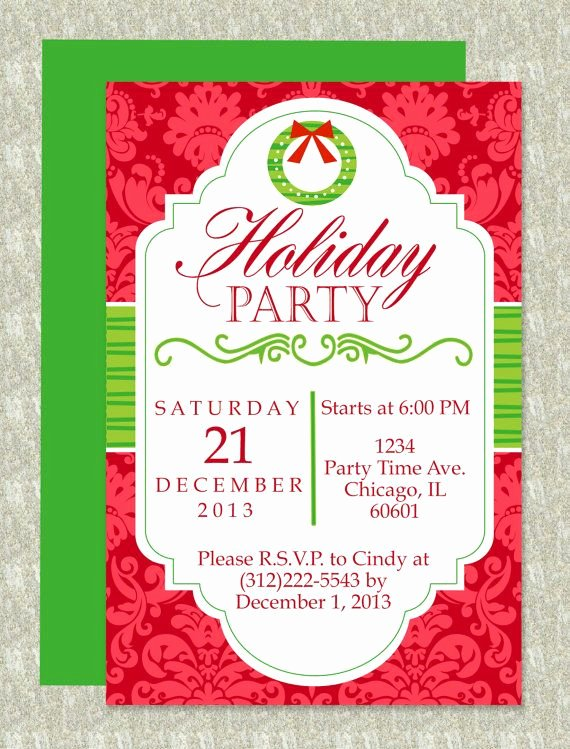 Christmas Party Invite Template Unique Christmas Party Microsoft Word Invitation Template
