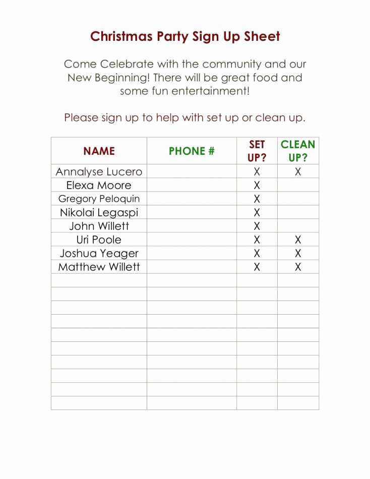 Christmas Potluck Signup Sheet Template New Fresh Halloween Potluck Sign Up Sheet Template