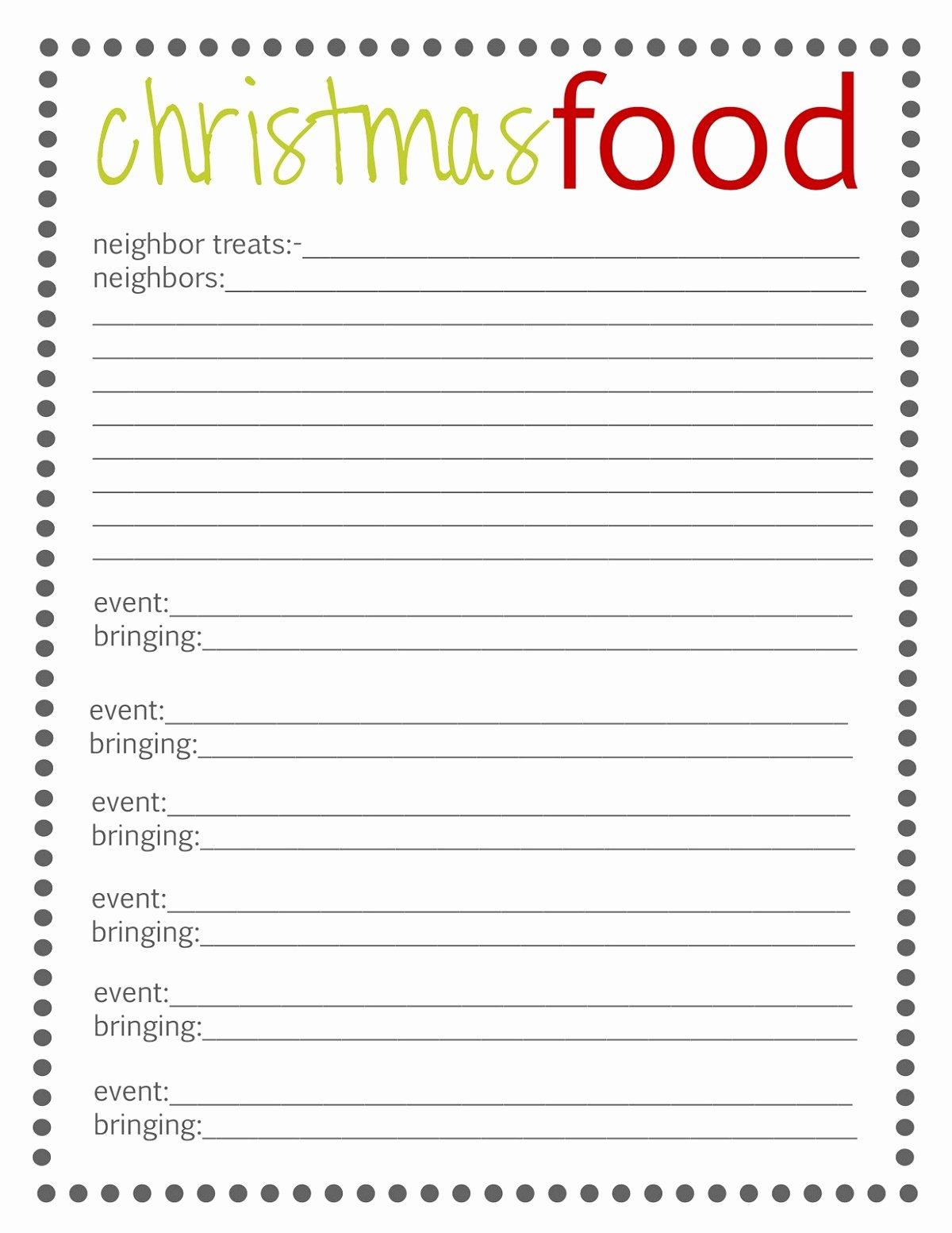Christmas Potluck Signup Sheet Template Unique Free Potluck Sign Up Template Simple