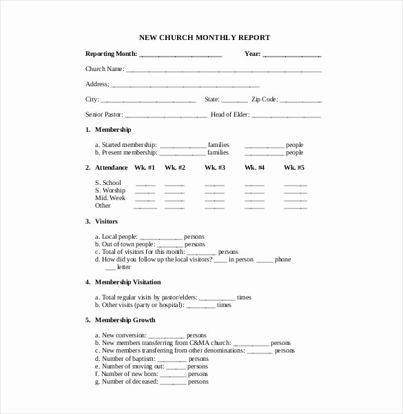 Church Financial Report Template Fresh 28 Sample Financial Report Templates Word Apple Pages