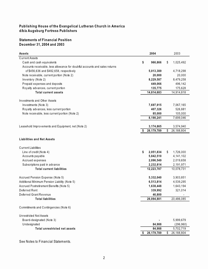Church Financial Statements Template Best Of Financial Statement Template
