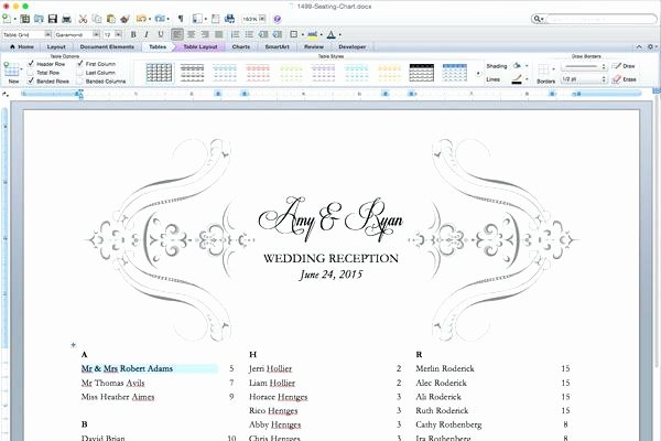 Church Seating Chart Template New Wedding Reception Template Downloadable Invitations Place