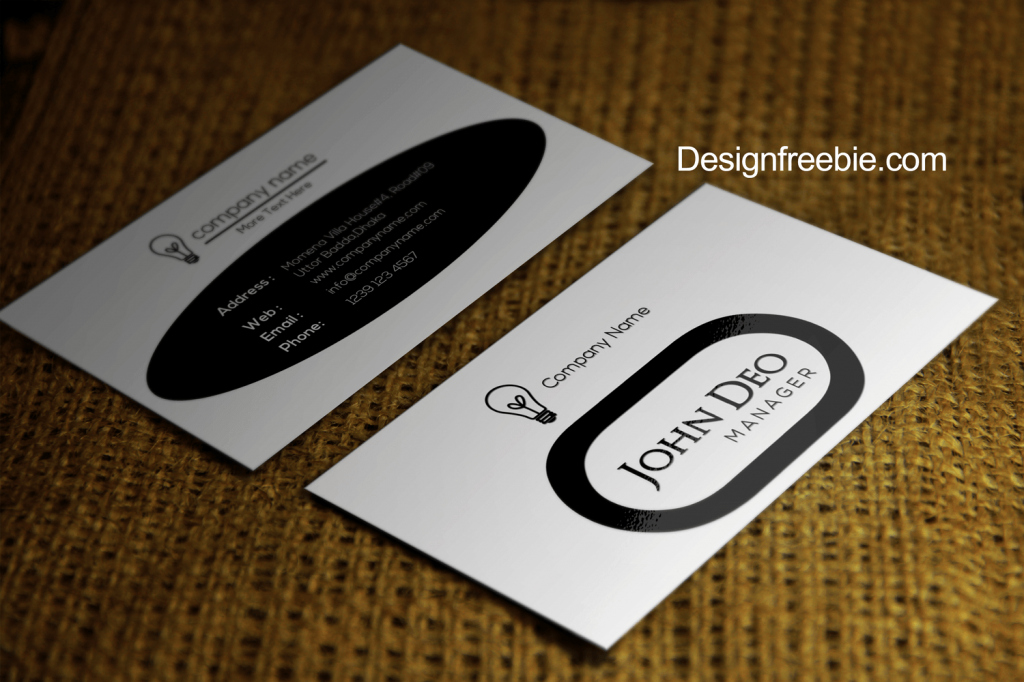 Circle Business Card Template Awesome Black and White Free Business Card Template Psd