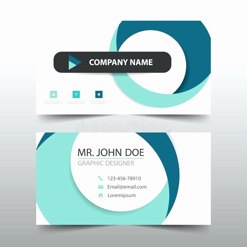 Circle Business Card Template Awesome Circle Business Card Template Download Blue Corporate Name
