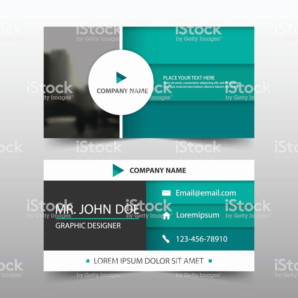 Circle Business Card Template Awesome Green Circle Corporate Business Card Name Card Template