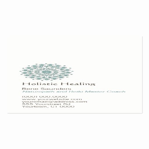 Circle Business Card Template Awesome Healing Arts and Natural Healing Circle Logo Double Sided