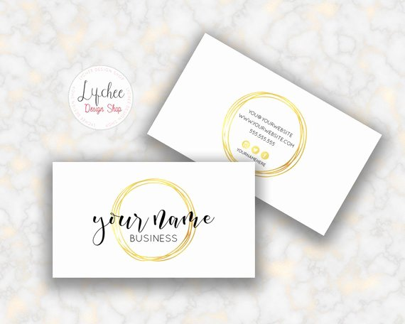 Circle Business Card Template Beautiful Gold Foil Circle Business Card Template 3 5x2 Golden