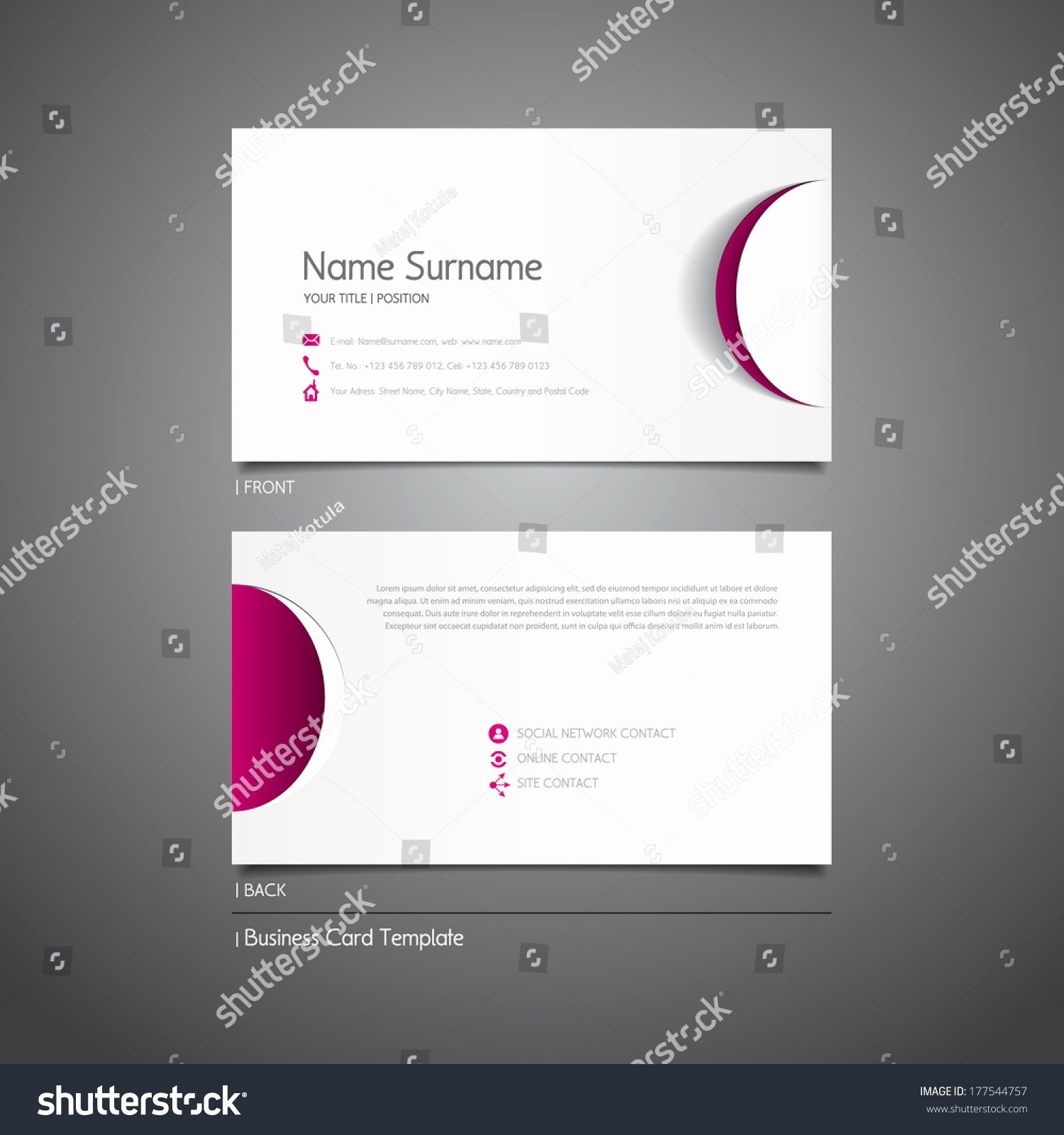 Circle Business Card Template Best Of Modern Simple Light Business Card Template Stock Vector