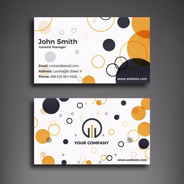 Circle Business Card Template Elegant Creative Circle Business Card Template for Free Download