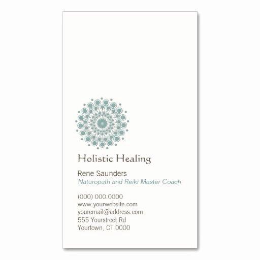 Circle Business Card Template Elegant Healing Arts and Natural Healing Circle Logo Business Card