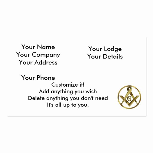 Circle Business Card Template Elegant Masonry Business Card Templates Page3