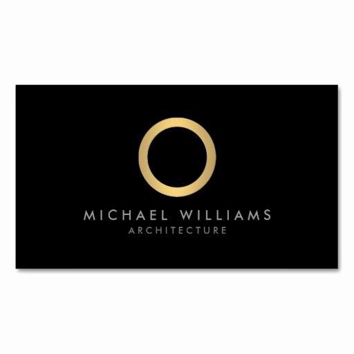 Circle Business Card Template Elegant Modern Simple Gold Circle Black Business Card Template