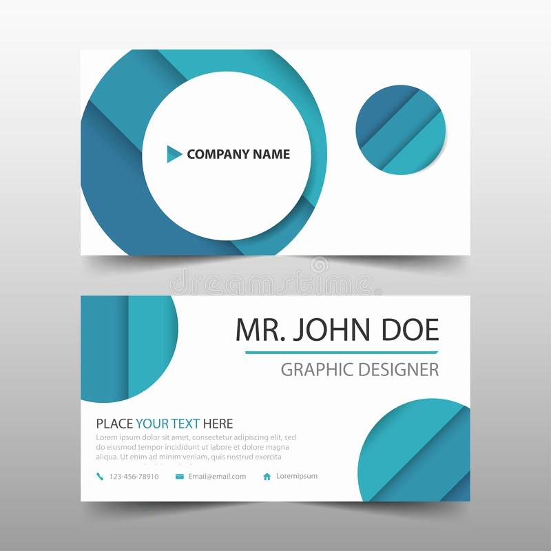 Circle Business Card Template Fresh Blue Circle Corporate Business Card Name Card Template