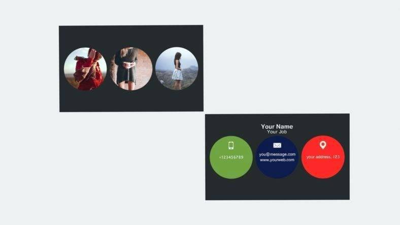 Circle Business Card Template Fresh Circle Card Template – Kazakiafo