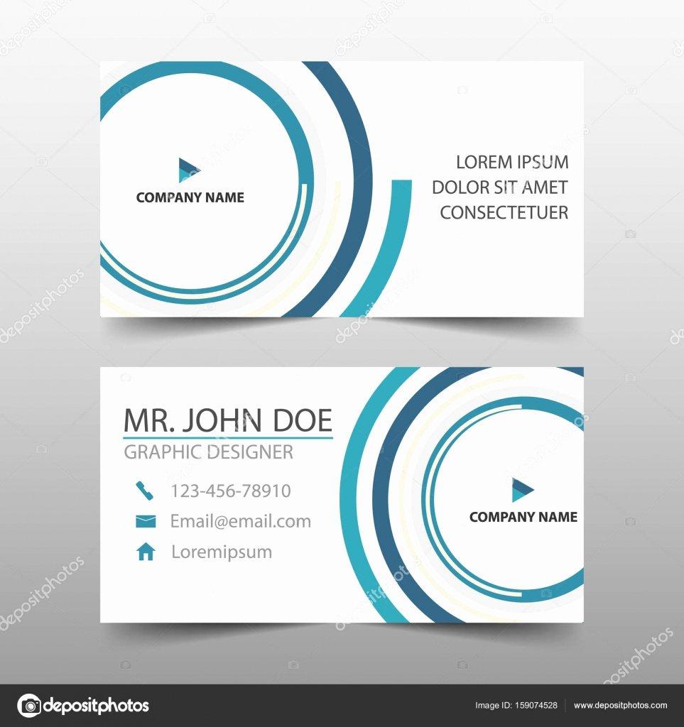Circle Business Card Template Inspirational Blue Circle Corporate Business Card Name Card Template