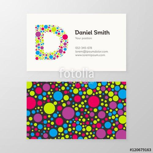 """Circle Business Card Template Inspirational """"modern Letter D Circle Business Card Template"""" Stock"""