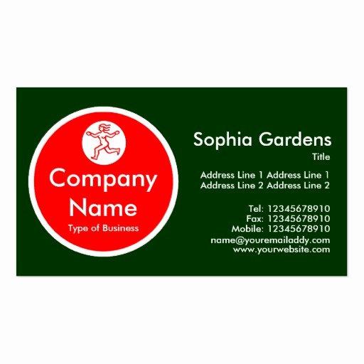 Circle Business Card Template Inspirational Red Circle Dark Green Business Card Templates