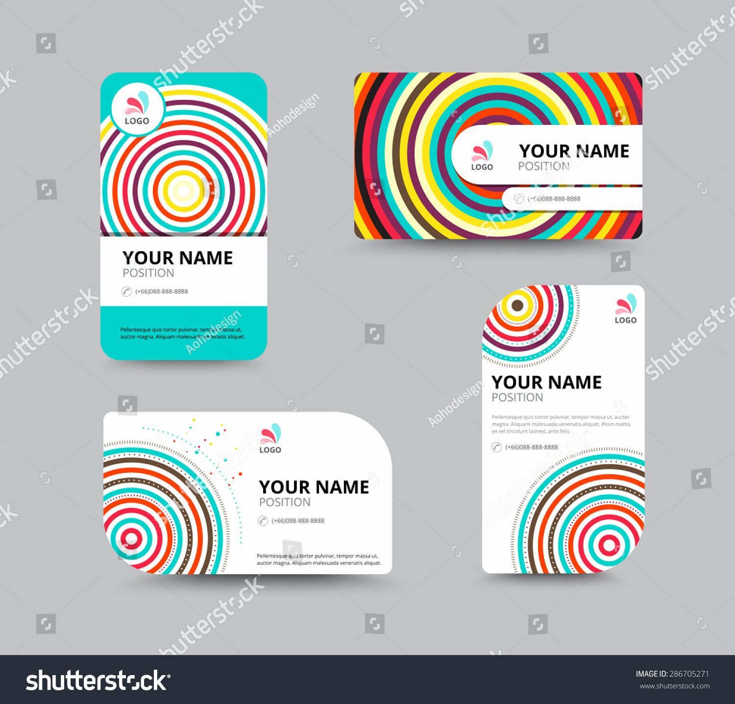 Circle Business Card Template Luxury Business Card Design Template Circle Concept Business
