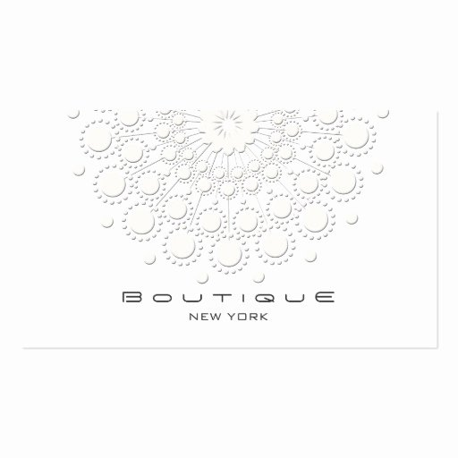 Circle Business Card Template New Elegant Circle Motif White On White Double Sided Standard
