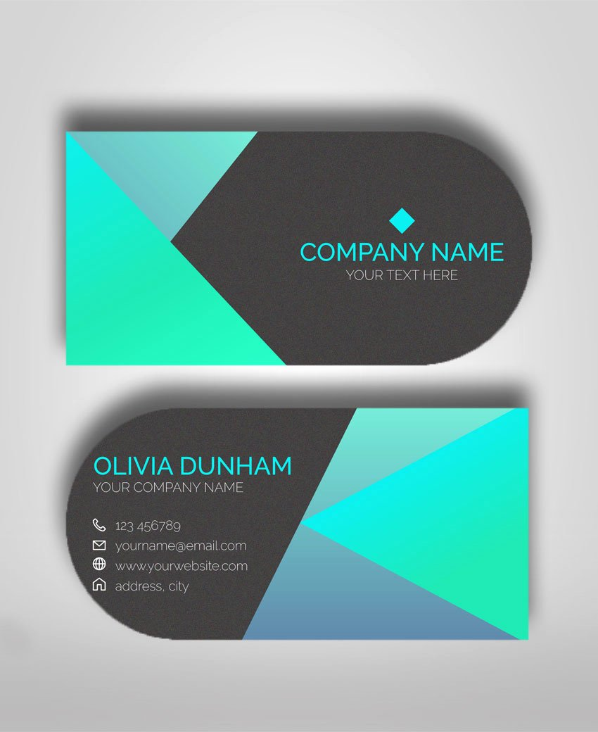 Circle Business Card Template New Half Circle Business Cards Business Card Template