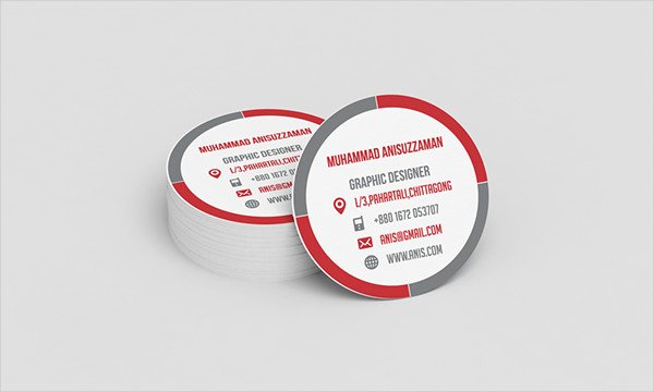 Circle Business Card Template Unique Round Business Cards 9 Free Psd Vector Ai Eps format