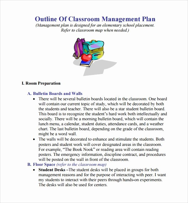 Classroom Management Plan Template Elementary Best Of 11 Classroom Management Plan Templates