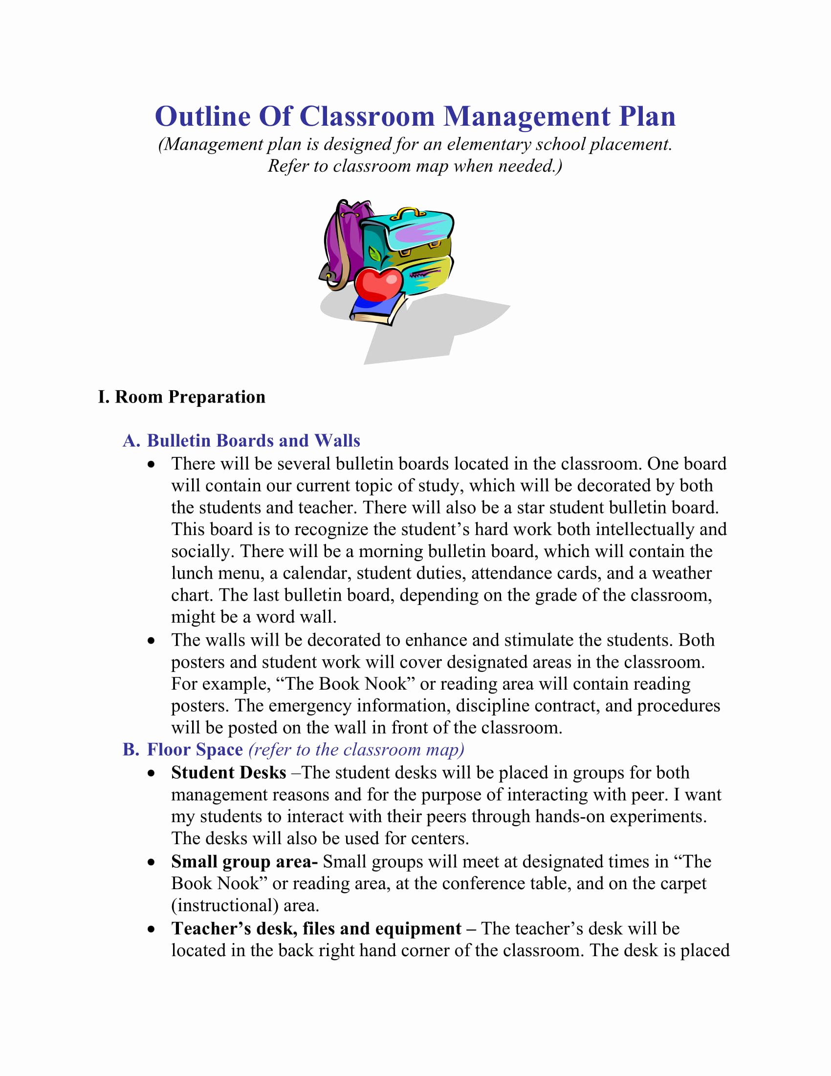 Classroom Management Plan Template Elementary Fresh Classroom Management Plan Template