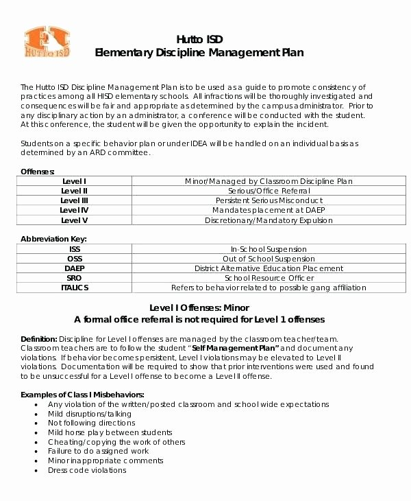 Classroom Management Plan Template Elementary Lovely In School Suspension Worksheets – Pular