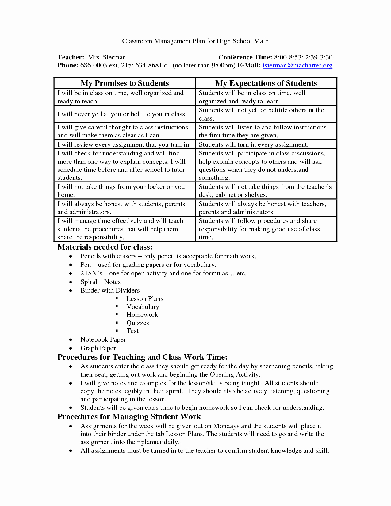 Classroom Management Plan Template Elementary Luxury School Wide Examples Discipline Plan Classroom