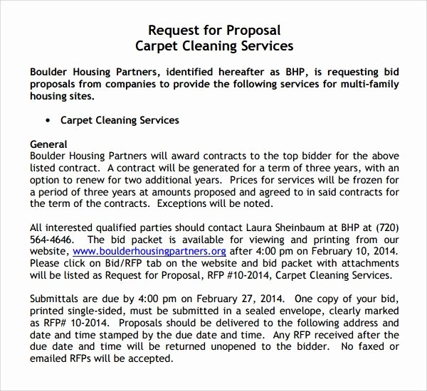 Cleaning Bid Proposal Template Luxury 13 Cleaning Proposal Templates – Pdf Word Apple Pages