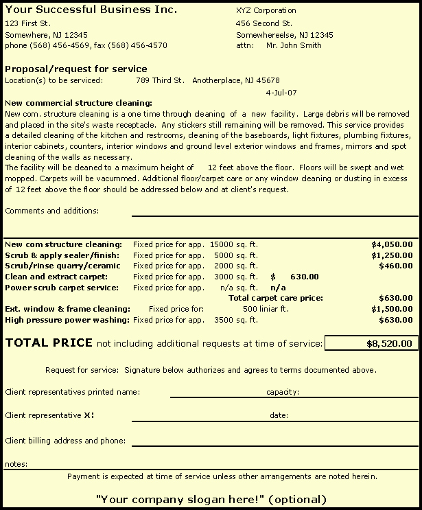 Cleaning Bid Proposal Template New How to Bid Final Post or after Construction Cleaning and