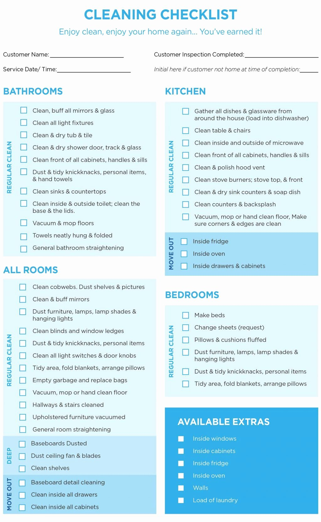 Cleaning Business Checklist Template Elegant 40 Helpful House Cleaning Checklists for You